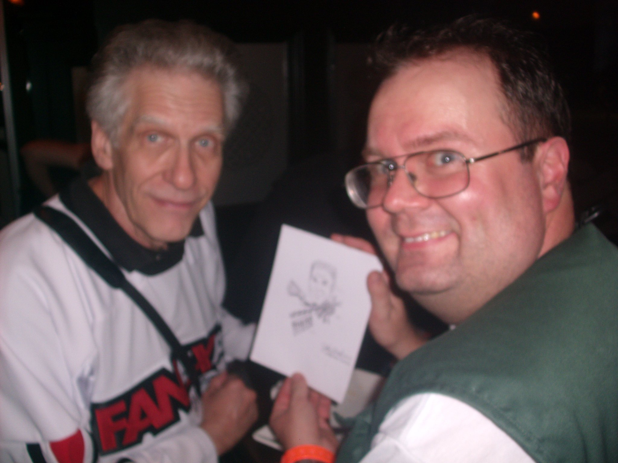 "Happy Birthday, David Cronenberg! \""Be afraid!  Be very afraid!\"" Photo taken at 2010.  :)"