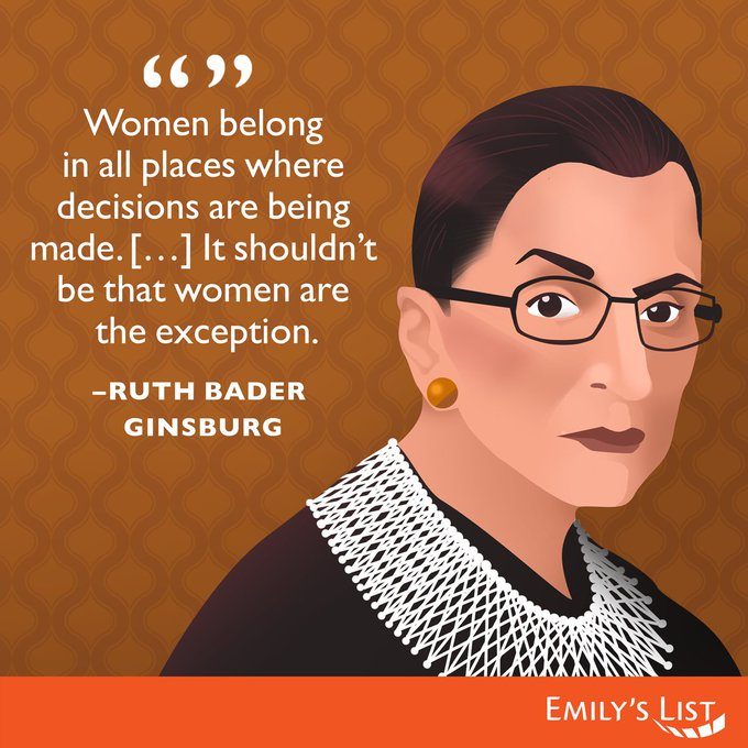 Happy birthday, Ruth Bader Ginsburg! We\re fighting to make sure women have a seat at the table.