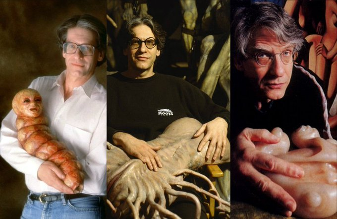 He really likes holding weird shit ...  HL wishes a VERY Happy Birthday to the incredible David Cronenberg! (Martyn)