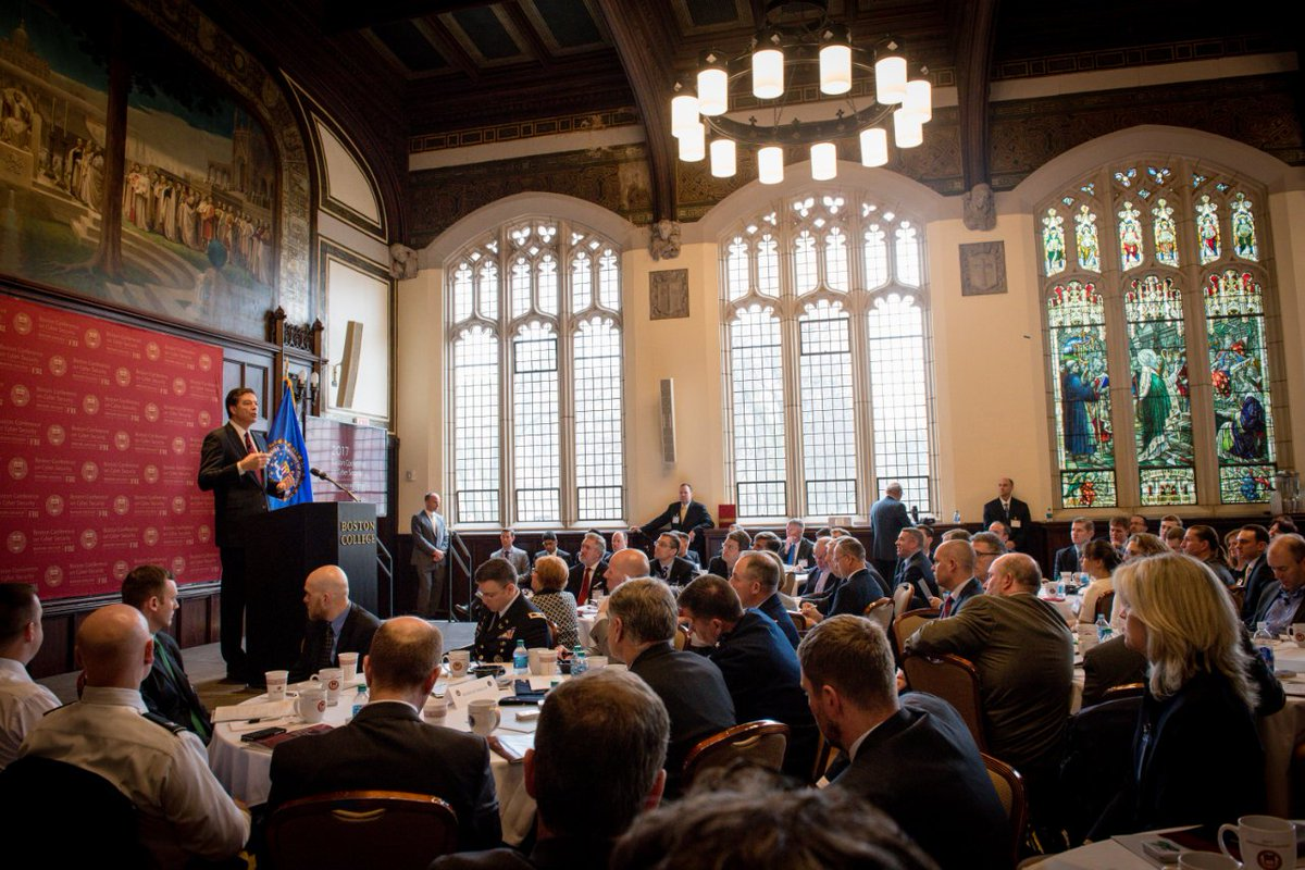 FBI Director Comey spoke today at the first Boston Conference on #CyberSecurity at @BostonCollege.