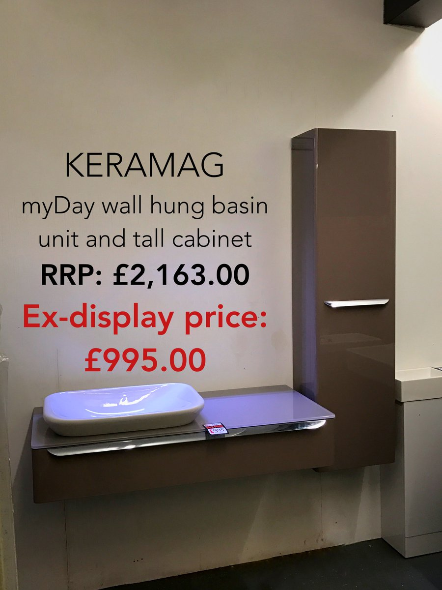 test Twitter Media - Here's another ex-display bargain! This Keramag myDay wall hung basin unit and tall cabinet was £2,163.00, now £995.00! https://t.co/D64IRACMn8