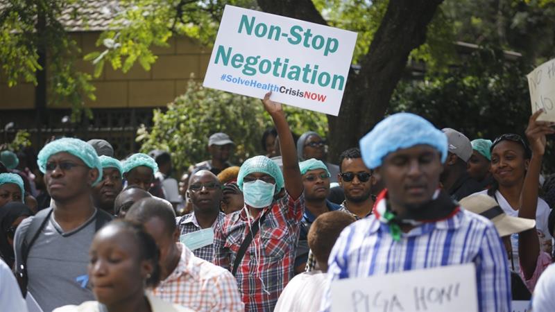 Kenya's striking doctors defy order to resume work