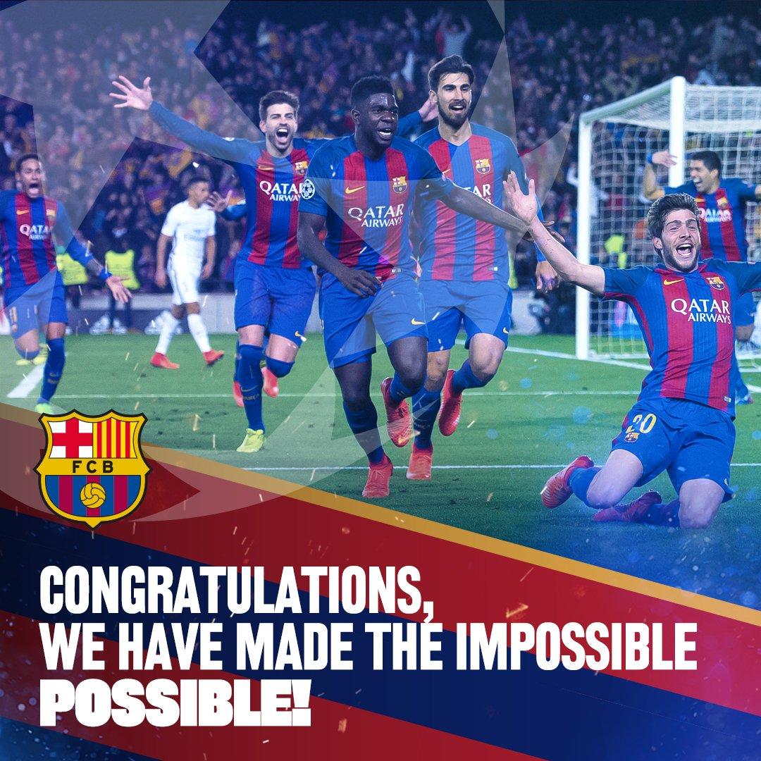 RT @FCBarcelona: Thank you Barça Fans! ???????? #ForçaBarça https://t.co/WMtlqB5Z2I