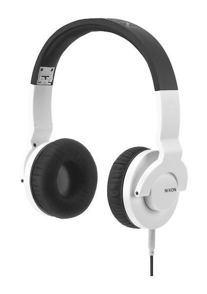 #fashion #headphones #free #style #giveaway #np Brand New Nixon The Stylus DJ Style w/ Mic Over Ear Headphones White Black #rt