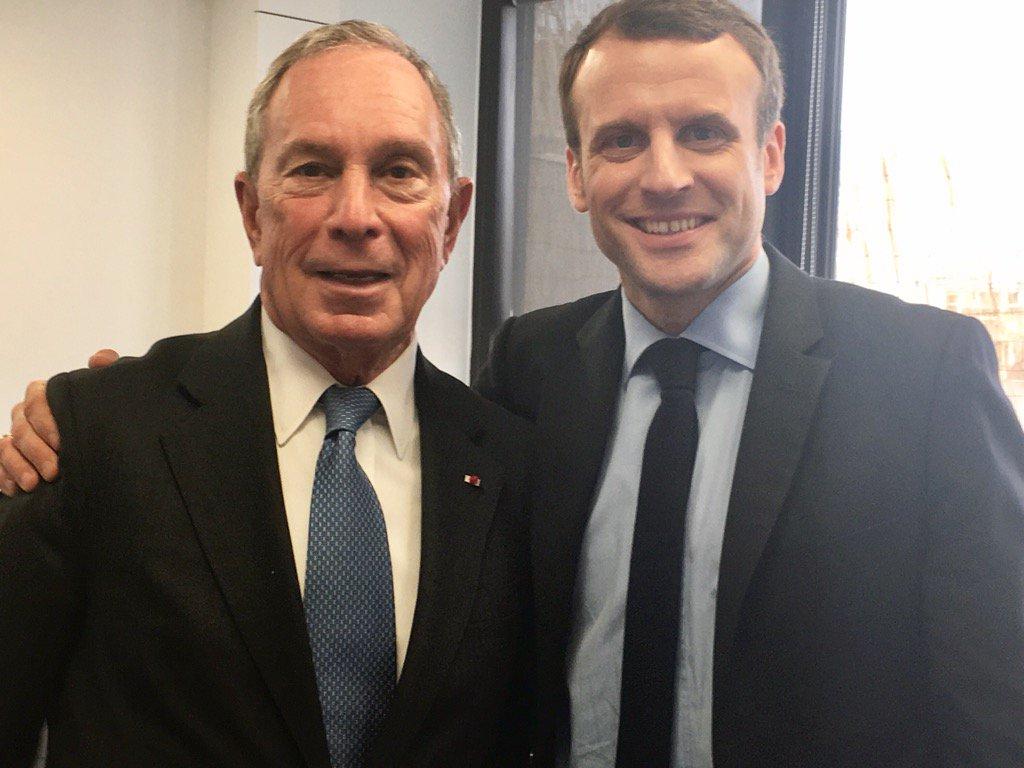 Rencontre ce matin au QG d'En Marche avec l'ancien maire de New-York Michael Bloomberg
