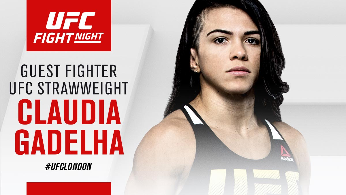 UFCEurope: Third Guest Fighter with us during #UFCLondon Fight Week is ClaudiaGadelha_!!  Full fan schedule lands … https://t.co/8blpHmRG5A