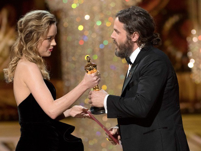 Brie Larson addresses her reaction to Casey Affleck's win at the Oscars: