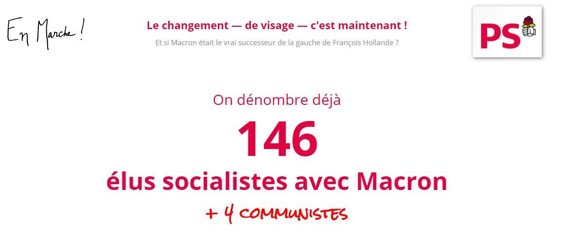 Et ce soir ? 146 socialistes et 4 communistes avec @EmmanuelMacron : ça n'arrête plus !  >> https://t.co/unQaEcS7i4 https://t.co/x5gA6Qa8cn