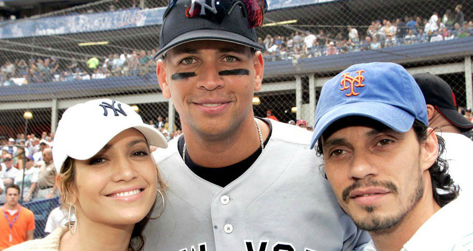 Ain't it funny that Jennifer Lopez and Alex Rodriguez met right in front of Marc Anthony: