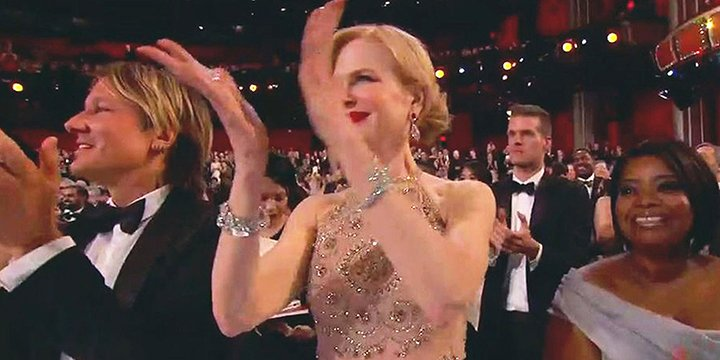 Nicole Kidman finally explains her weird clapping at the Oscars via @peoplestyle