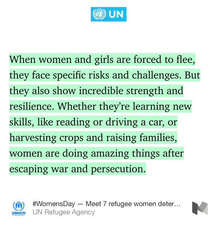 Meet 7 refugee women determined to thrive in exile — @Refugees https://t.co/cpjUfIvJak https://t.co/g2IEPGdhfc