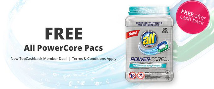 Free ALL POWERCORE PACS AFTER CASH BACK! - Freebie Freebies Sample Samples