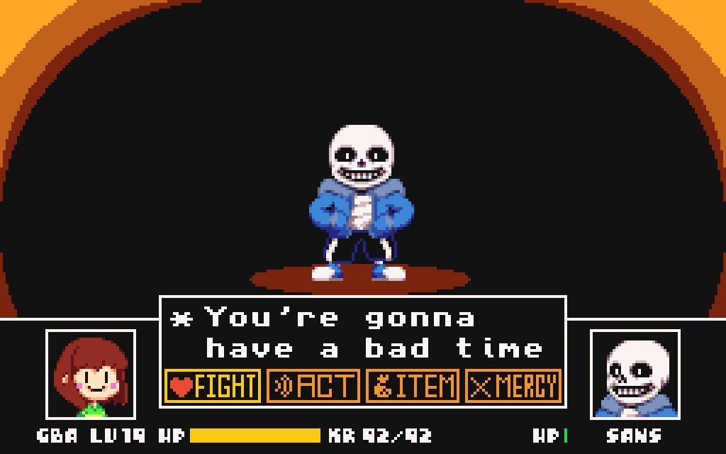 You're gonna have a bad time! #PixelArt #Sans #Undertale #GBA #Advance https://t.co/ljEu3fd405