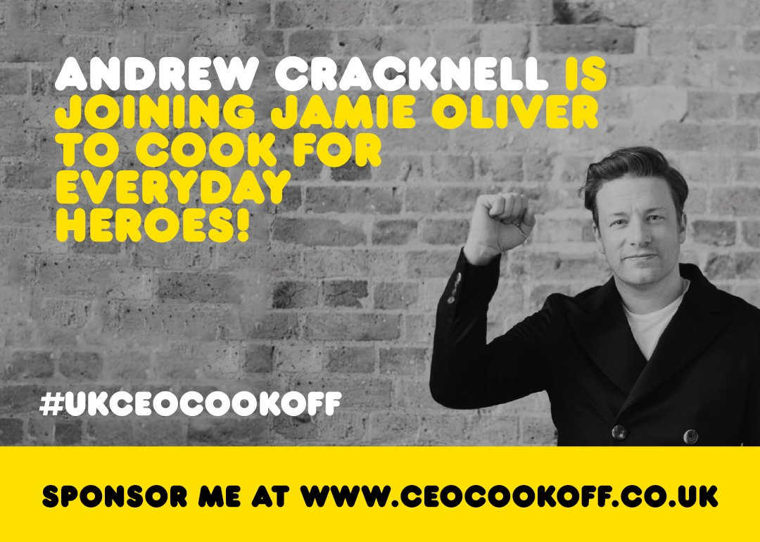 Cheers Andrew Cracknell @2SFGofficial for joining me in the #ukceocookoff great to have your support!! jox https://t.co/ytJgkwTtxt