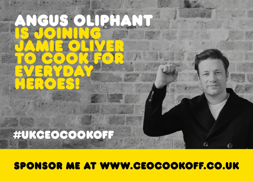 Big up to Angus Oliphant @miniscoff he's joining me in the #ukceocookoff. See you soon mate!! xjo https://t.co/pDeSnkfKDD