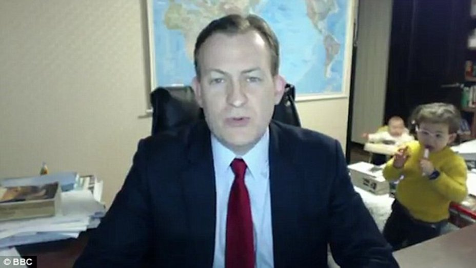 Watch BBC News Interview Gatecrashed by Guest's Children
