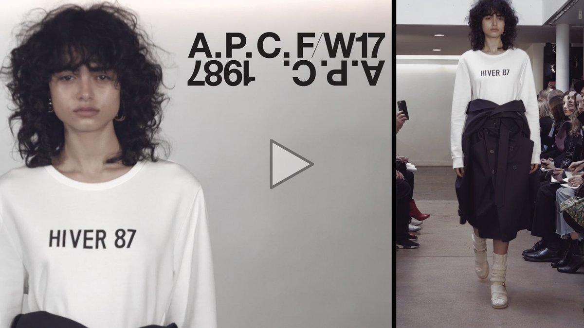 #APC femme 2017年秋冬コレクション 音楽パフォーマンス : #Metronomy 動画はこちらよりご覧頂けます。 https://t.co/I7ZsgMJwNd https://t.co/5hpqEsuFQr