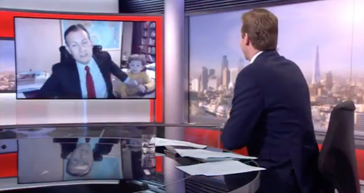 Video of Kids Crashing BBC Interview Goes Viral (Watch)