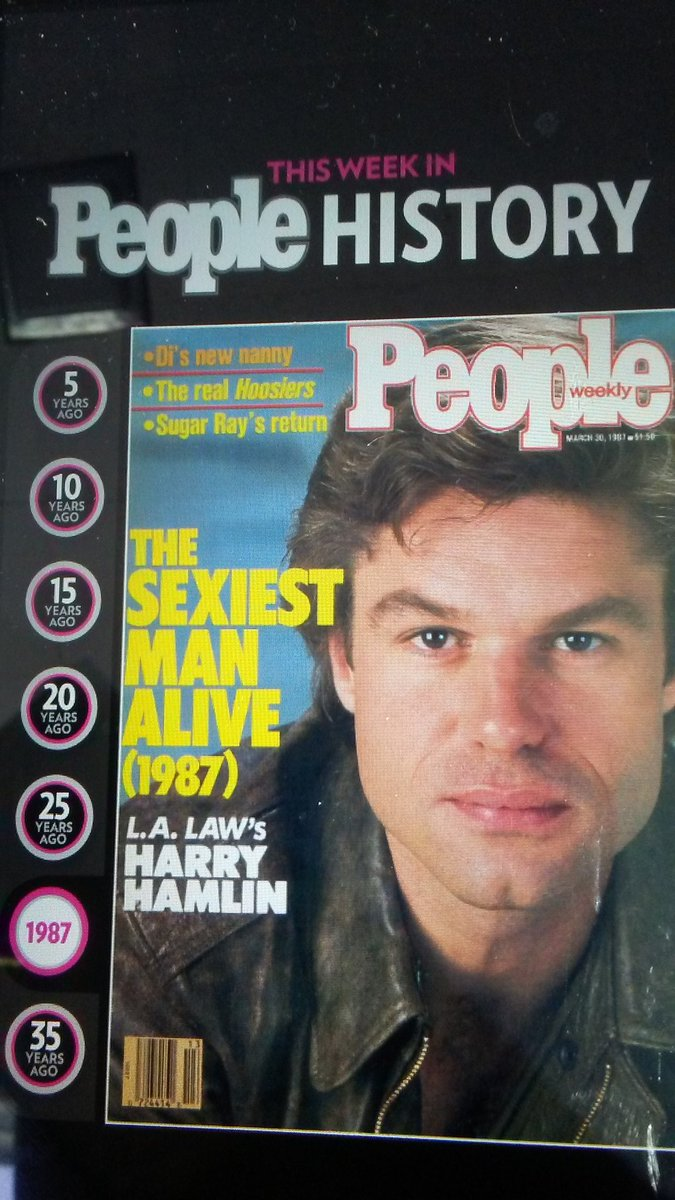RT @Peg929: @lisarinna 30 years ago #sexiestmanalive. #peoplemagazine https://t.co/WVhWY5e0AG