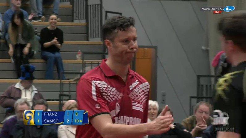ECL 準決勝第1戦ザールブリュッケン1 -2 オレンブルグフランチェスカ 1-3 サムソノフ(11-8、5-11、3-