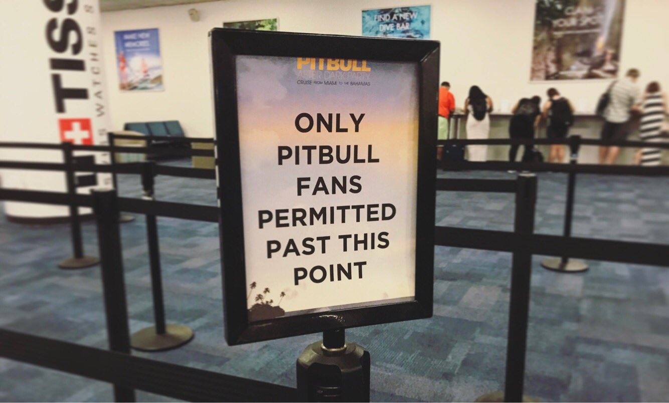 Welcome to our weekend on the high seas #PitbullCruise https://t.co/2aYd0k2GEW