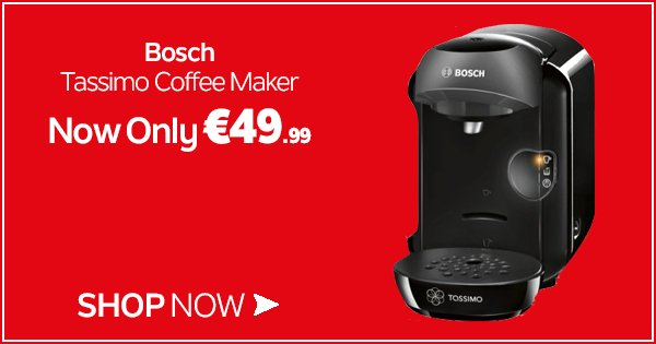 Perfect your morning routine w/ the Bosch Tassimo drinks machine, now only €49.99! Shop Now https://t.co/HyaHJT9aV9 https://t.co/4XrAcBvXZj