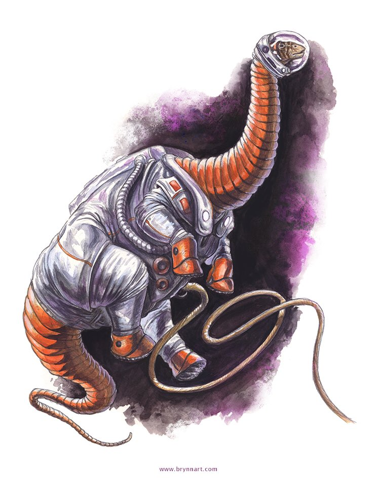 OMG tweeps: dinosaurs in spacesuits https://t.co/l0hirqCrBj (by @Brynn_Metheney HT @lwinko3) https://t.co/VYl7UNG3Pf