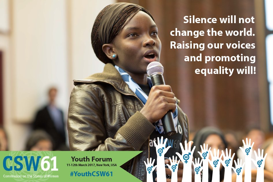 Saturday: #YouthCSW61 gets underway in NYC. Follow  @UNWOMEN4Youth @YouthForumCSW & see: https://t.co/lxsVREDxPN https://t.co/w6D0Okl4tT