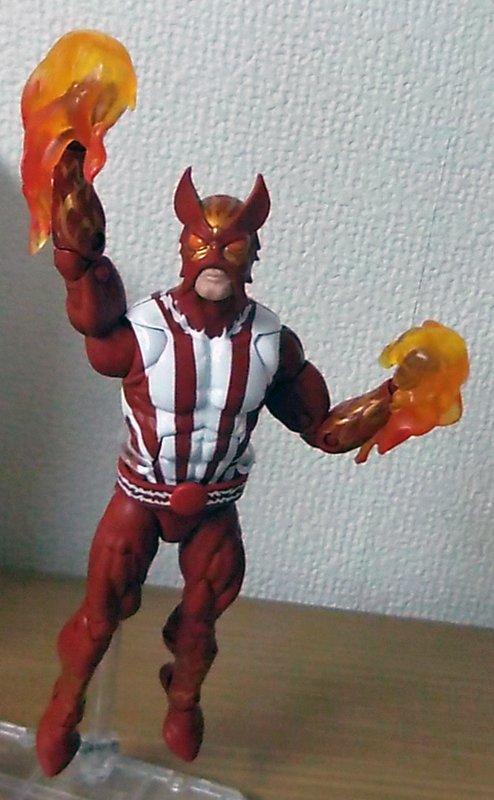 """ハズブロ:マーベルレジェンド6インチ:X-MEN(ウォーロック)シリーズの「サンファイア」。 ディスクウォーズで""""日本最"""