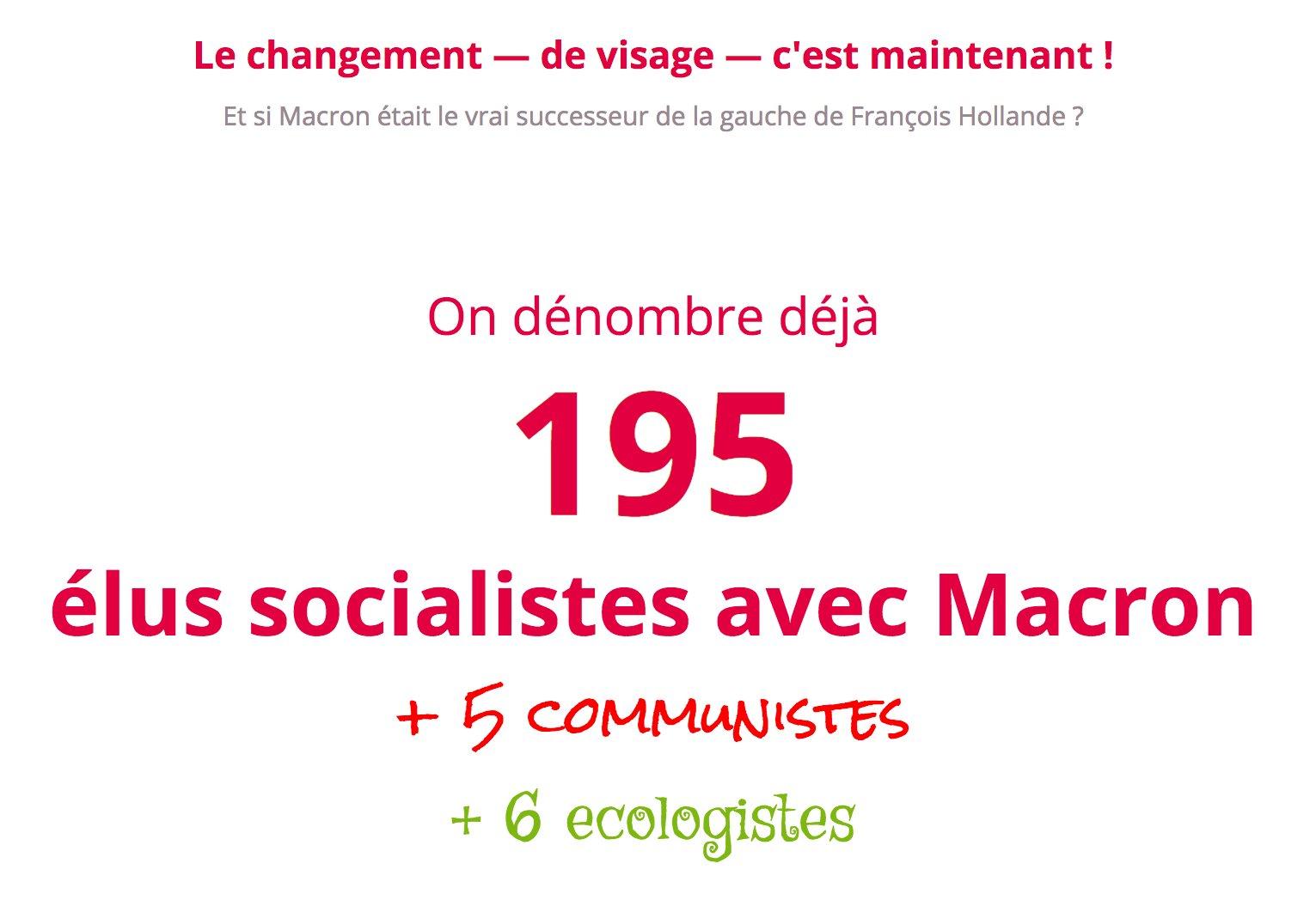 Le bilan à la moitié du week-end : près de 200 socialistes, 5 communistes et 6 écologistes avec @EmmanuelMacron. https://t.co/0A0DAtKvwg