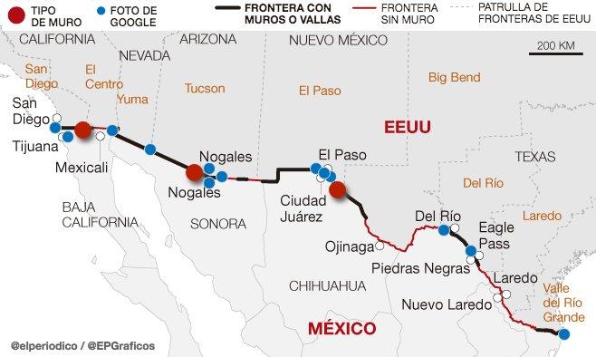 Anatomía del muro de : la frontera entre méxico y eeuu ha generado ...
