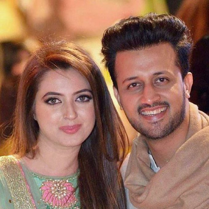 Happy Birthday  Atif Aslam Nice Couple