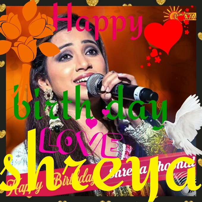 happy birthday nd happy holi Didi my angel  shreya ghoshal garu