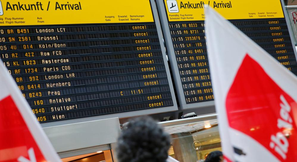 Berlin airport workers to strike again on Monday over pay