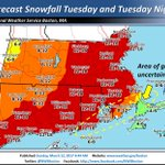 More than a foot of snow predicted to fall across Massachusetts during storm Tuesday