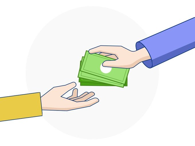 Payment taking hand free vector - freebiesmall exclusiveillustration freebies vector