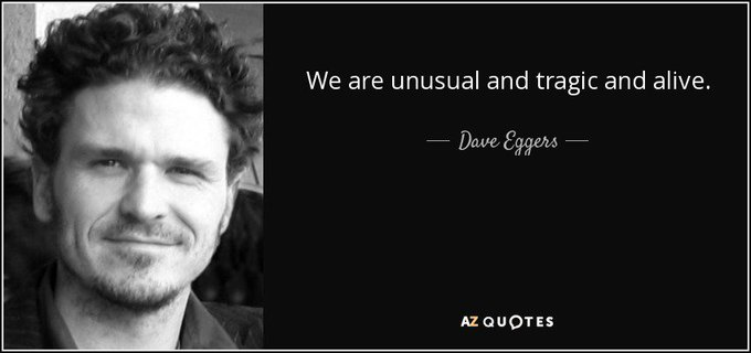 We send happy birthday greetings to Dave Eggers today! Have you read The Circle?