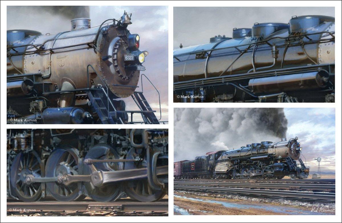 RT @MarkKarvon: Details of my recent digital painting of the CB&Q Class M-4A #railroad #locomotive #train #railfan https://t.co/hgzxdpbTiR