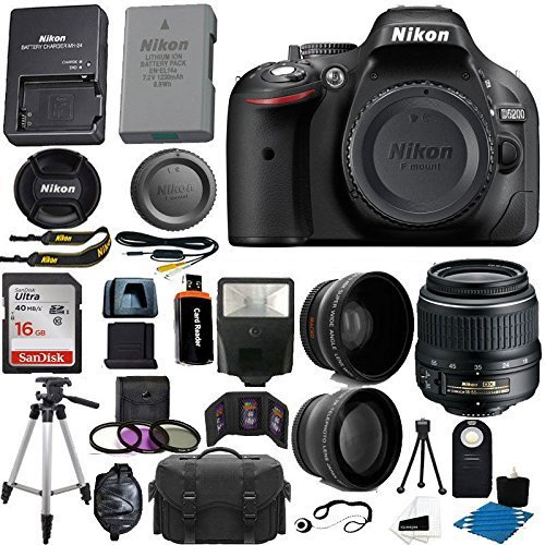 #free #camera #win #style #deals #giveaway #np Nikon D5200 24.1 MP CMOS Digital SLR Camera (Black) 18-55mm f/3.5-5.6G VR AF-S DX Zoom Autofocus Lens + 2x Professional Lens + HD Wide Angle Lens + 16GB Bundle International Version (No Warranty) #rt