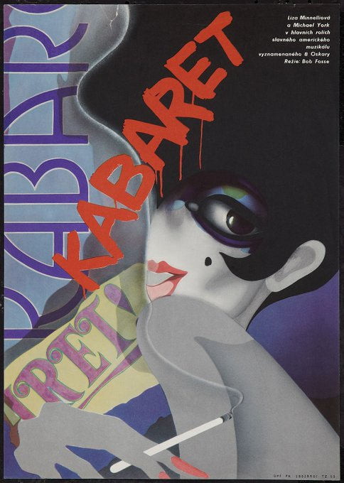 Happy birthday to  Liza Minnelli - CABARET - Directed by Bob Fosse - 1972 - Czech release poster