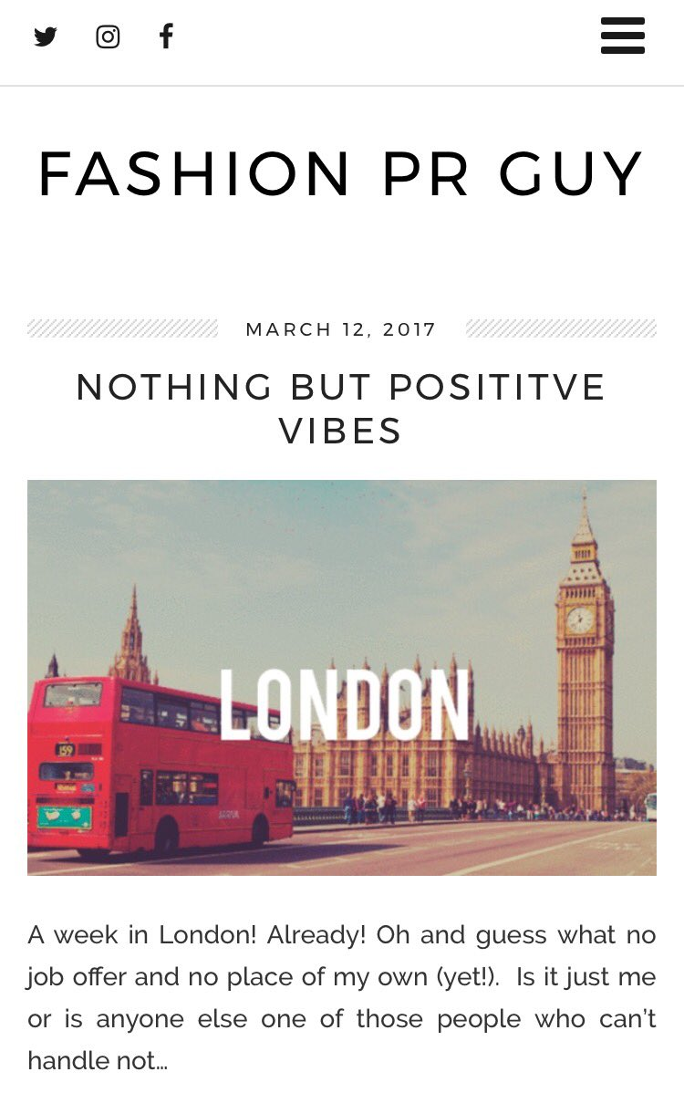 Fashionpress One Week In London Done And I Ve Nothing But Positive Vibes Check It Out Http Fashionprguy Com 2017 03 12 Posive