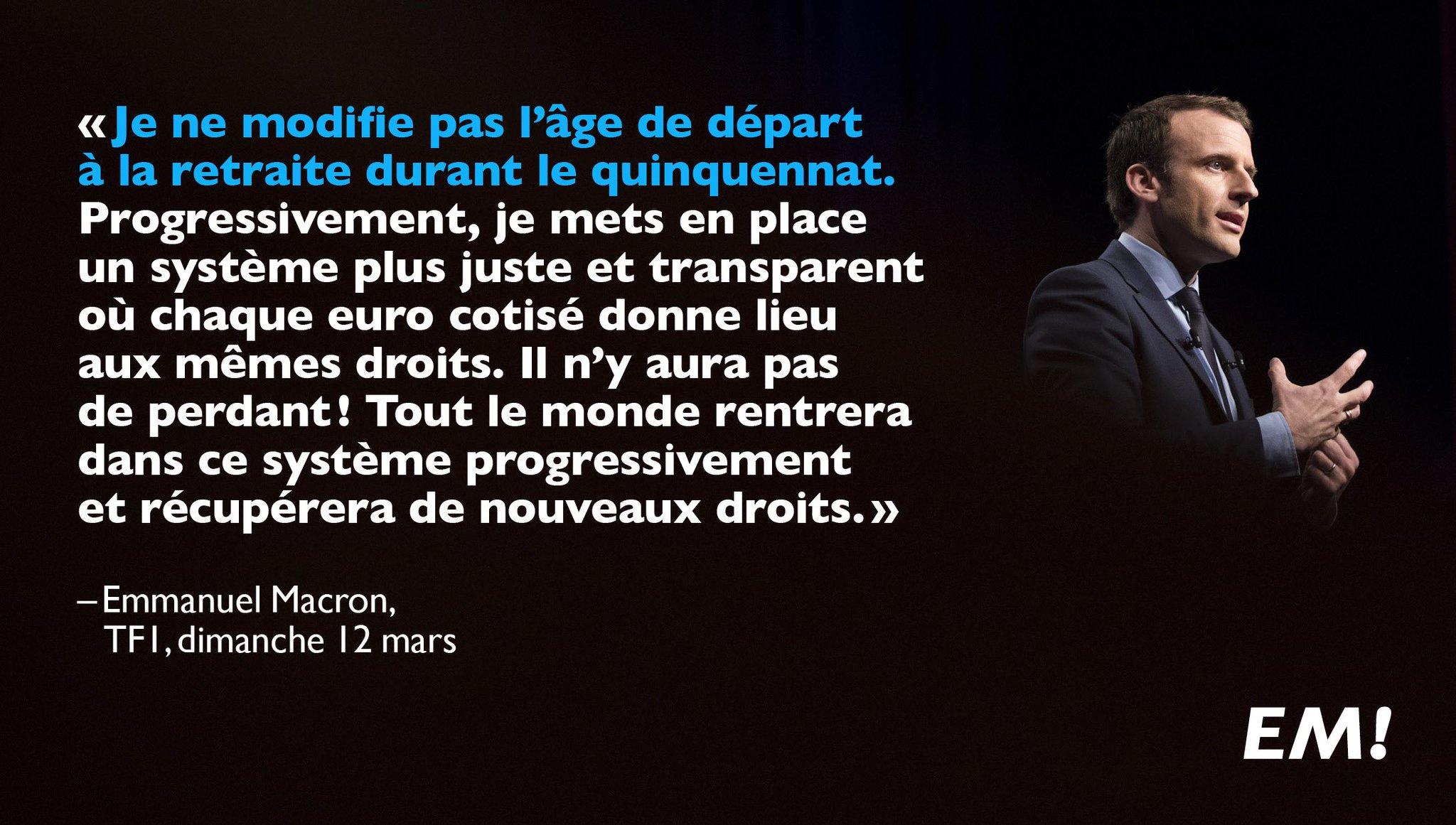 Retraites : pour un système plus juste et transparent où chaque euro cotisé donne lieu aux mêmes droits. #LE20H https://t.co/Nt95NMC6zn