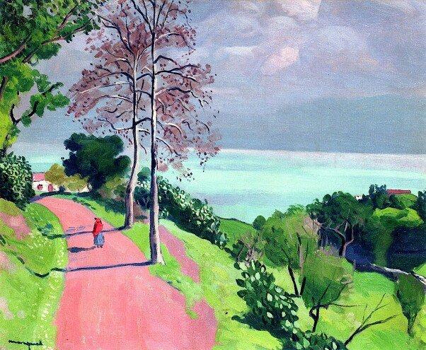 test Twitter Media - RT @rehana_one: Albert Marquet  'The Road to Béjaïa'  #landscape #painting https://t.co/7RuWinZzZC