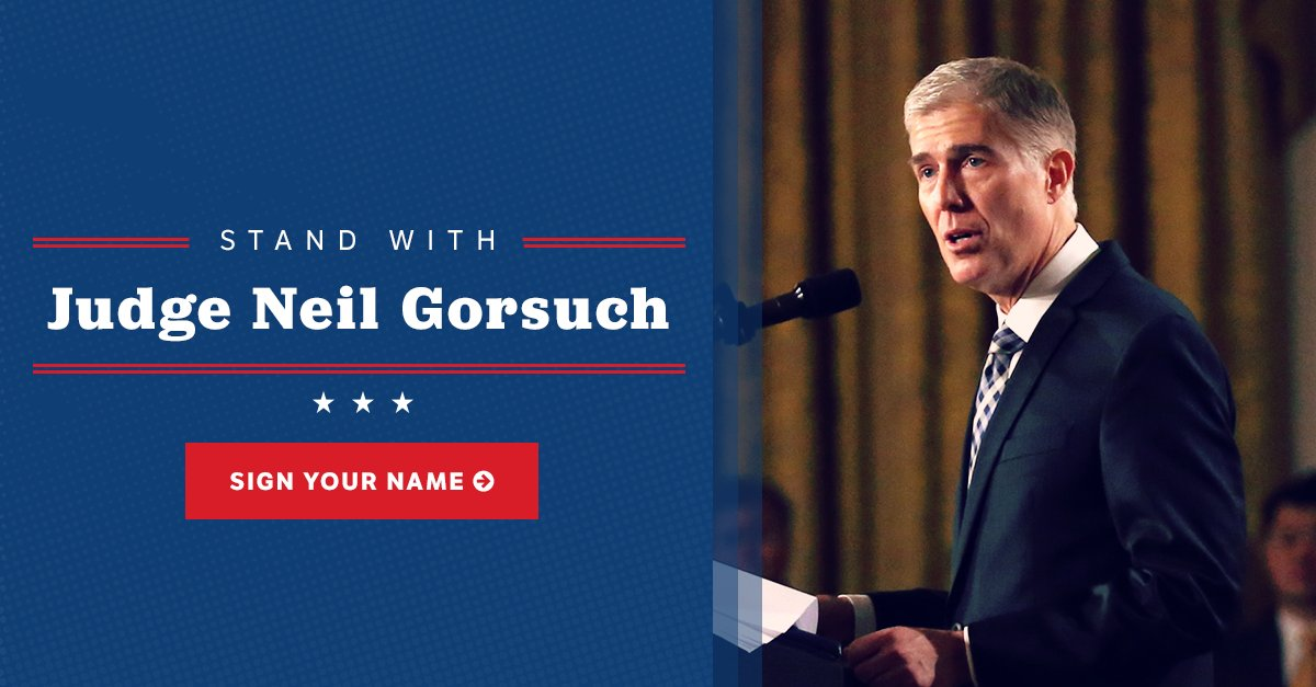 We must protect and cherish our Constitution. Stand behind Judge Neil Gorsuch for #SCOTUS. https://t.co/Z6npND443t https://t.co/tIA8UBkz21