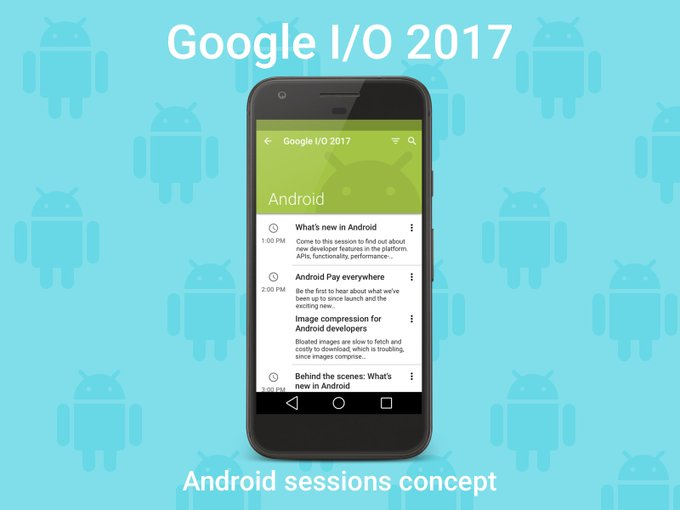 Android Sessions Google I/O 2017   Mockup by kyle_eventjoy freebie