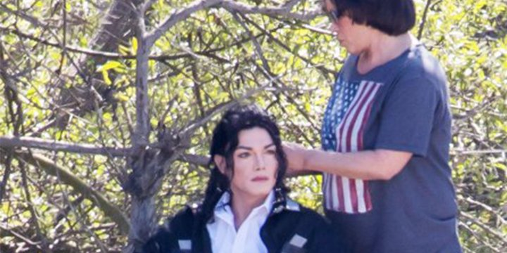 This Michael Jackson impersonator looks scarily like the real deal on Lifetime movie set