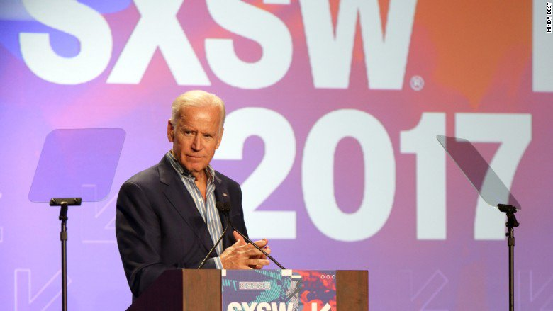 Former US Vice President Joe Biden says the fight against cancer is bipartisan