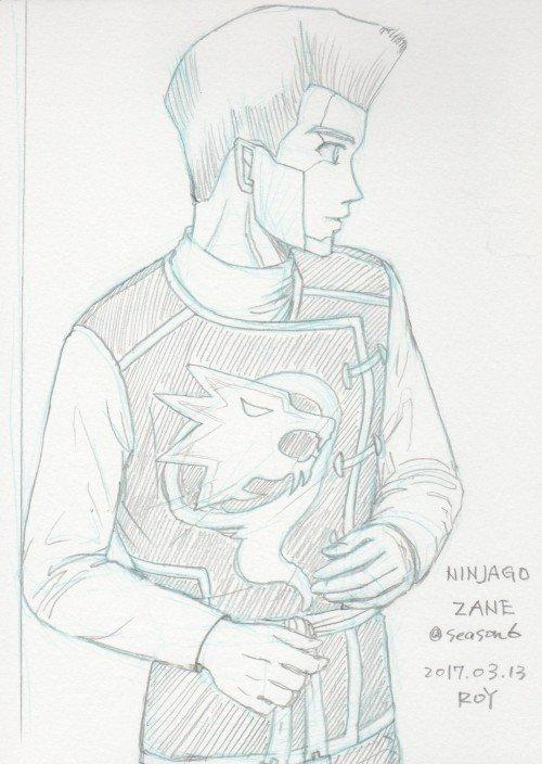 #ninjago  ZANE @ season6 ,Titanium Ninjaチタン製ゼン。エンサイクロペディアのシー