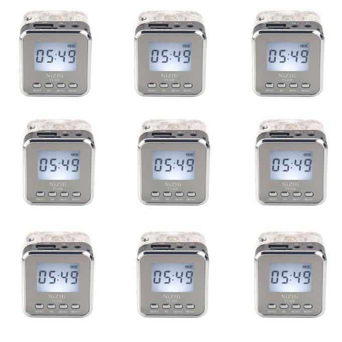#free #music #win #style #follow #giveaway #mp3 9PCS Mini Portable TT-028 Stereo TF USB Disk FM Radio LCD Speaker MP3 Player #rt