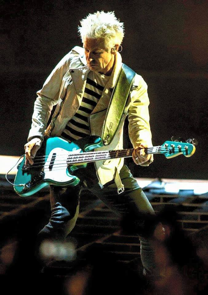 "Artistic and amiable, sexy and sophisticated, the ""jammin\ Jazz Man\"" -- Happy birthday to the amazing Adam Clayton!"